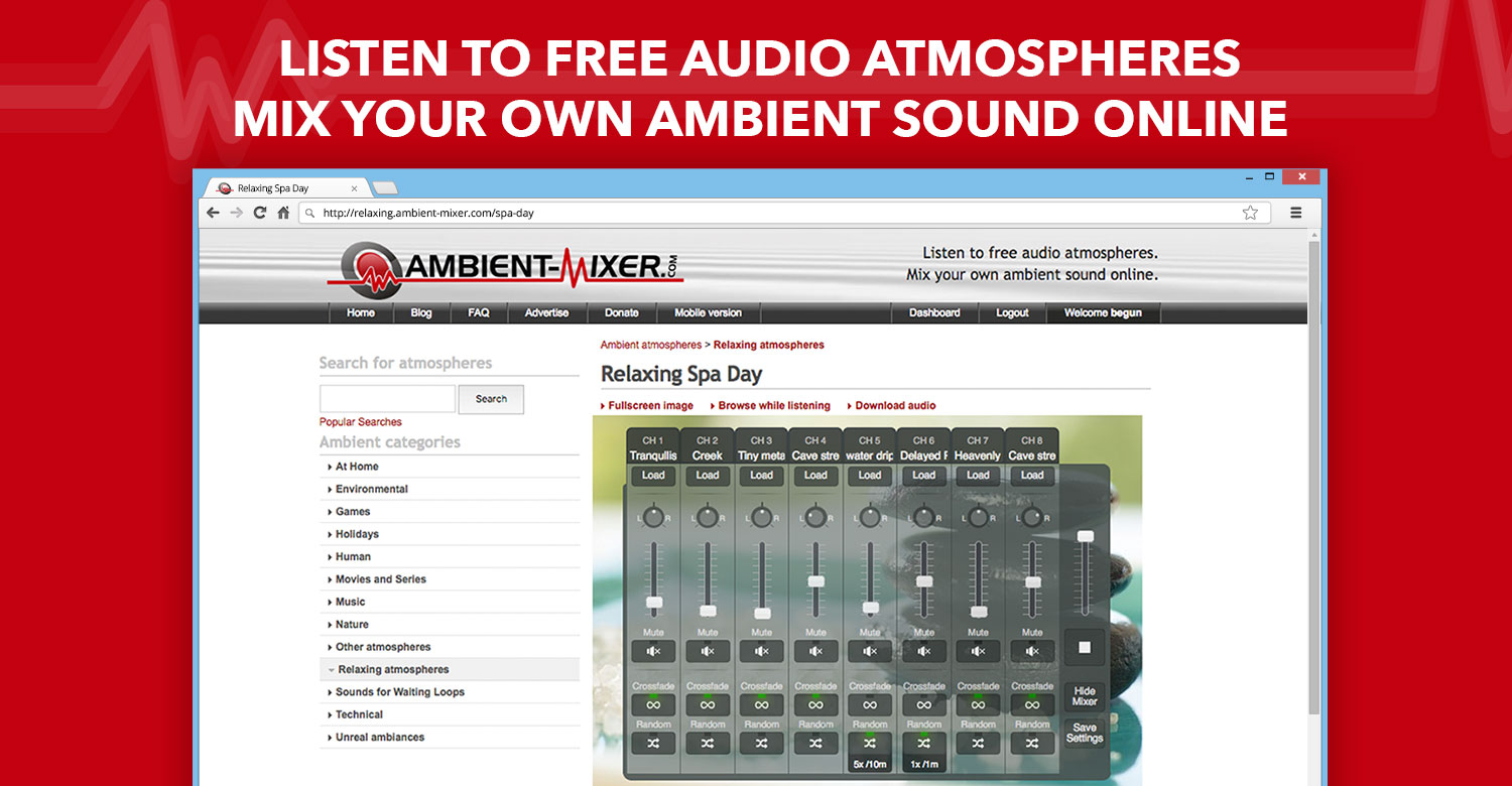 Listen and create ambient sounds easily