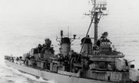 Battle ship, the engine, the voices of sailors screaming over wind and rain