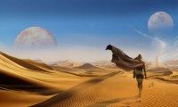 Walking through the dune deserts