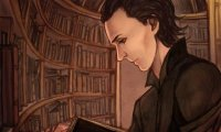 Loki reading in his chambers