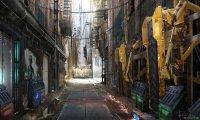 Muddy dugout city slums