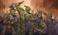 Battle with orc clan