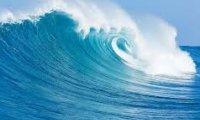 Big waves, light seagulls
