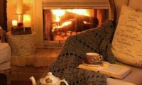 Get cosy by the fireplace