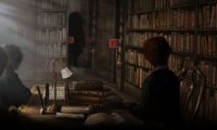 Hogwarts Library with Students Studying for Finals