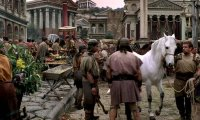 A busy day at market in Ancient Rome