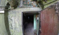 A communications room in a bunker