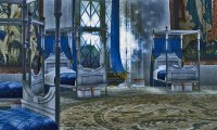 Rainy night just before sleeping in your Ravenclaw Dormitory