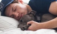 Sleeping next to him