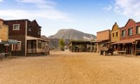 Walking through the fictional town of Solomon