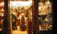 Busy Christmas Gift Shop