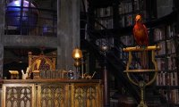 Inside Dumbledore's office, it's business as usual.