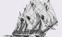 Ship sailing on the sea
