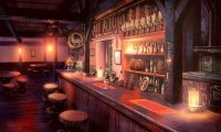 A quiet and lonely tavern