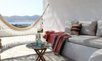 Peaceful vacation in a greek villa by the ocean.