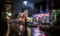 Rainy night at French Quarter