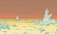 Dans le désert des plaines des plaintes sur la planète Point Zero