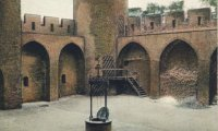 courtyard of a medieval castle