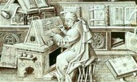 Sounds of a medieval cloister ... scribes at work ...