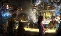 Peaceful night in an alien bar