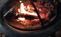 Hot flames in the hearth
