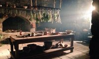 Mrs Fitz's busy and bustling kitchen at Castle Leoch