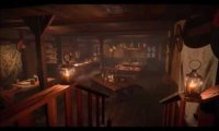 Dine alone after-hours in a small tavern at Edoras...
