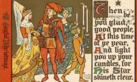 A medieval Christmas gathering