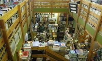 The sounds inside of a local bookshop