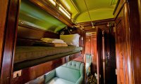 The Cabin of a Steam Train During a Storm