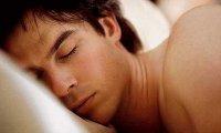 Sleeping next to Damon Salvatore