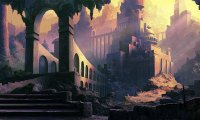 On The Run ~ Dark Fantasy / Steampunk Town Outskirts ambience