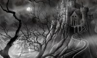 A classic gothic horror ambience