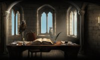 Studying in Ravenclaw Common Room in October