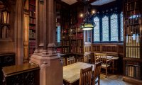 Stormy Hogwarts Library