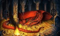 Your is dragon sleeping beside in a cave while you are writing something