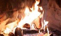 Hufflepuff Study Cozy Fire