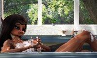Enjoy a hot bath as you listen to the songs of birds.