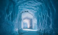 Ice Cave with Creepy Sounds