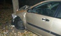 Wrecked Car in the Rain