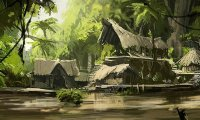 Ambience for jungle village for DnD