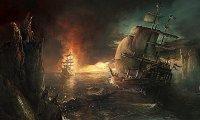 Crews battle at sea