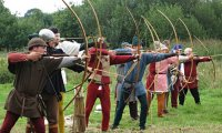 Archery competition in a medieval fair