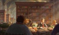 Studying with classmates at Hogwarts