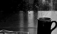 Coffee house on a rainy day