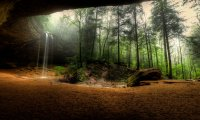 Small cave in the forrest