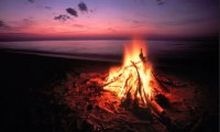 the beach, the bonfire, the bottle