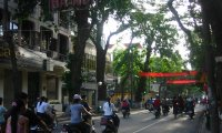 Sitting at a cafe in Hanoi
