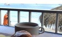 seaside breakfast in a Martinique cafe