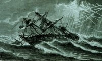 This is the sound of the ship that crashed in Dracula, in which all of the crew perish